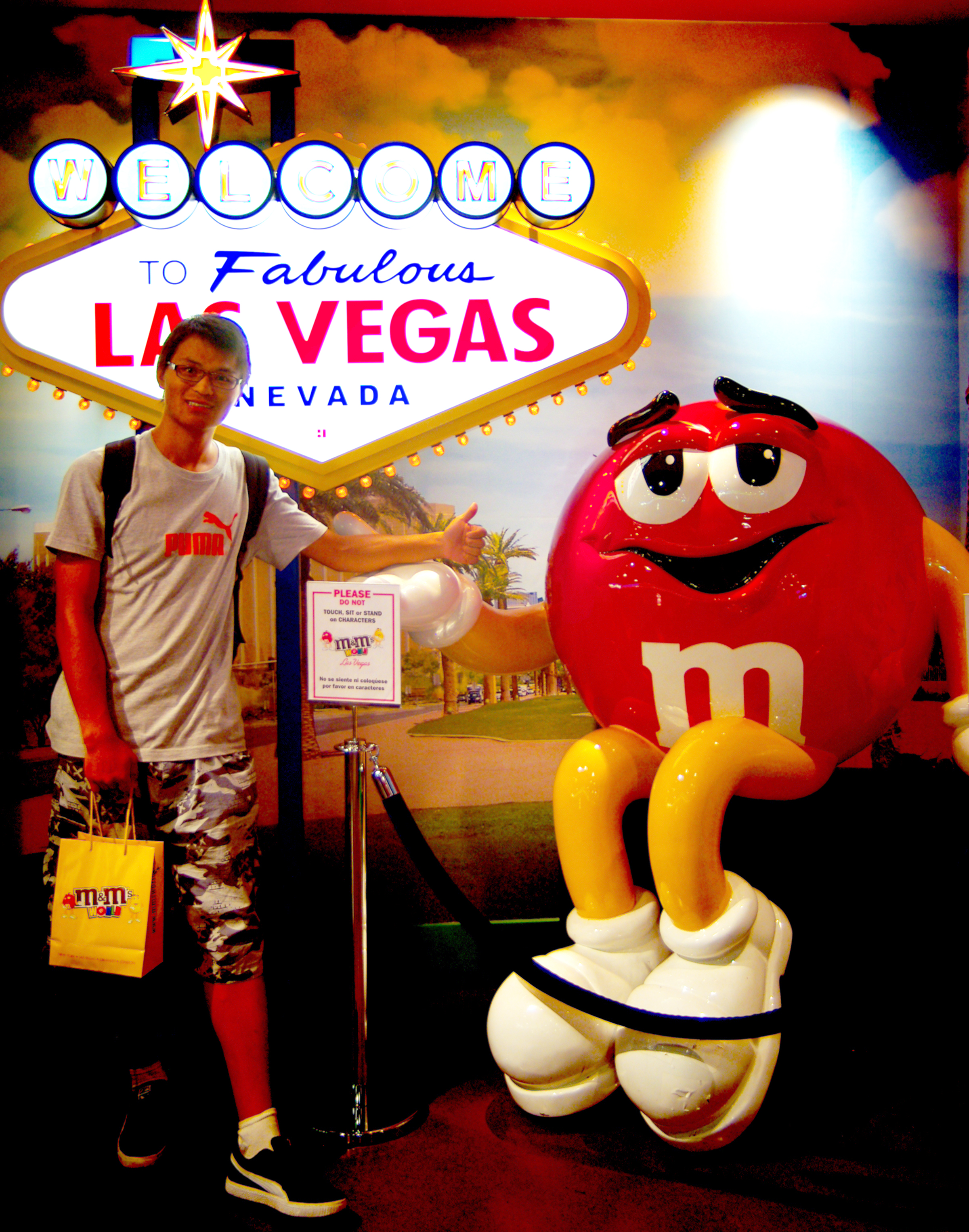 Wang Yong visit Las Vegas