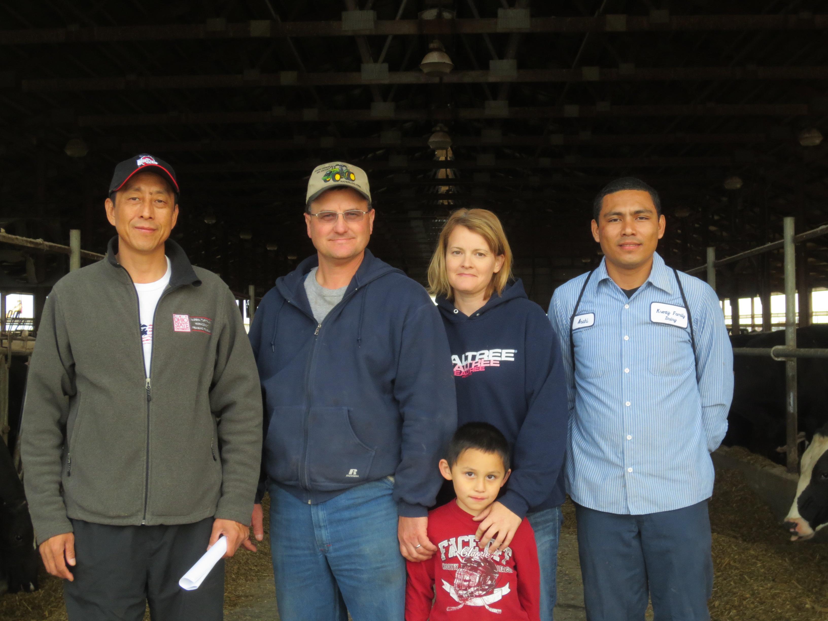 2012.10 visit Krentz Family Dairy