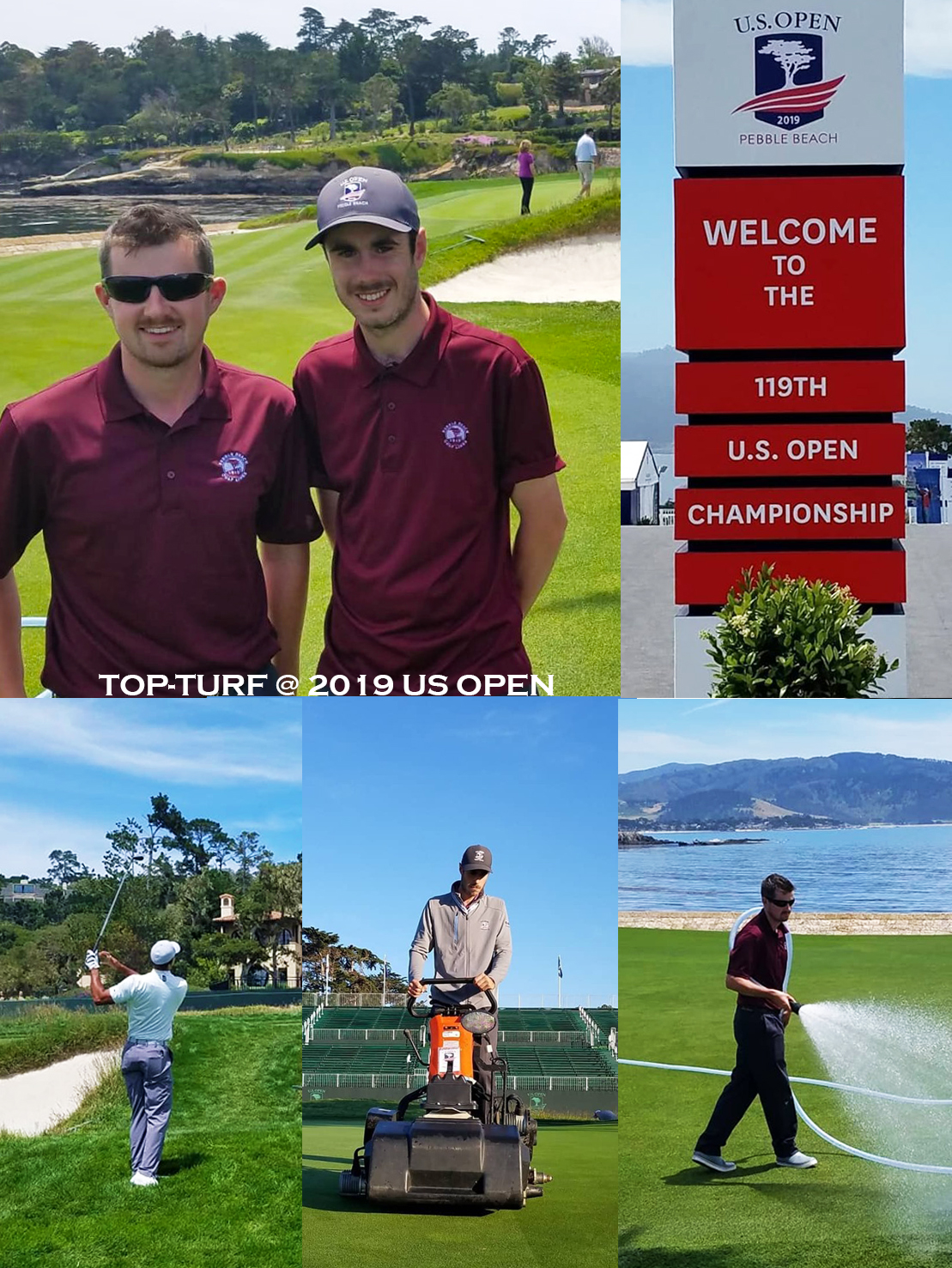 TOP-Turf Interns Volunteering at 2019 U.S. Open