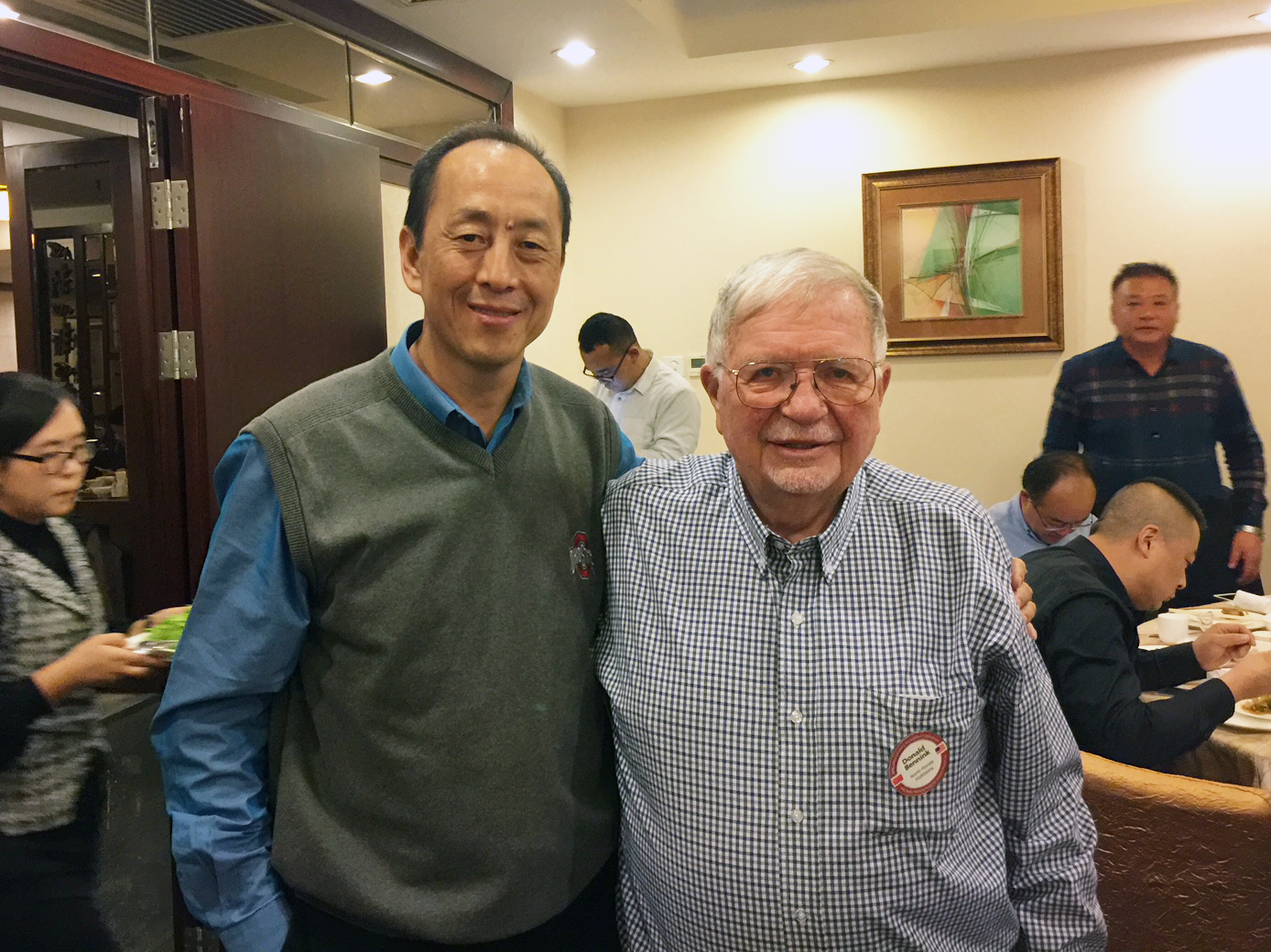 Dr. Donald Bennink with Mr. Zhang Yining