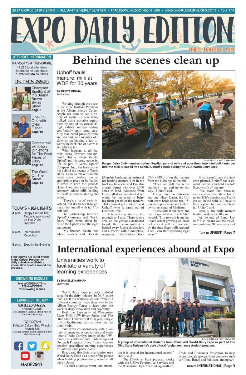 Newspaper -Expo Dairy Edition-The Ohio Program Dairy Group