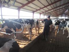 2012 Sep visit Van Erik Dairy- Intern Israel Chavoyo Lopez