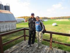 2012.10 visit Dairylane Farms -intern Espinoza Jorling