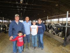 2012.10 visit Krentz Family Dairy-intern Isahi Ugalde