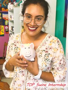 2018 September Swine Intern Andrea & Her Art Piece