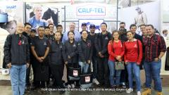 TOP Dairy Interns with Calf-Tel