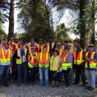 2018.05 Interns Edwin Fernando with Host Company Workers